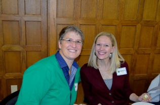 From l to r: Jan Warren, assistant director for student services and Kristin Wurster, graduate assistant