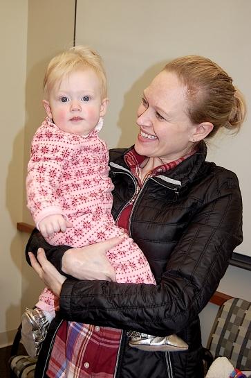 Graduate student Kristin Wurster shows off her daughter, Ellen.